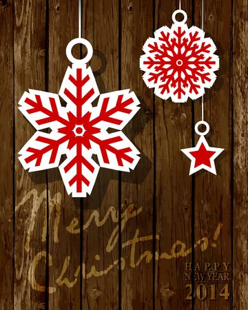 cristmas: Merry Cristmas. Greeting card or background.