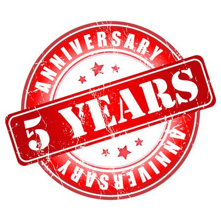 5 years anniversary stamp. Banco de Imagens - 28323675
