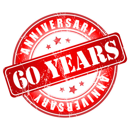 5 years: 5 years anniversary stamp. Vector illustration. Stock Photo