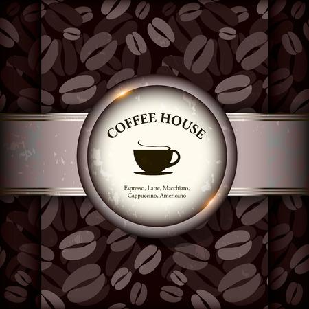 coffeehouse: Menu for restaurant, cafe, bar, coffeehouse. Vector illustration.