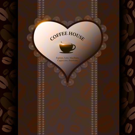 coffeehouse: Menu for restaurant, cafe, bar, coffeehouse  Vector illustration Stock Photo