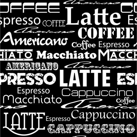 penman: Seamless coffee pattern  Vector illustration