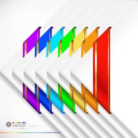 Colorful  ribbons set  Vector Illustration   illustration