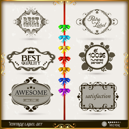 set of calligraphic and floral design elements with decoration and baroque frames and tulip ornaments Old paper texture with grunge frames photo