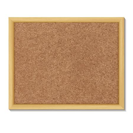 pizarra: Tablero de corcho de Brown en un marco. Ilustraci�n del vector. Vectores