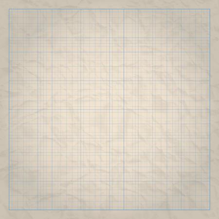 milimetr: Papier inżynierii milimetr kwadratowy siatki na tle starego papieru. Ilustracji wektorowych.