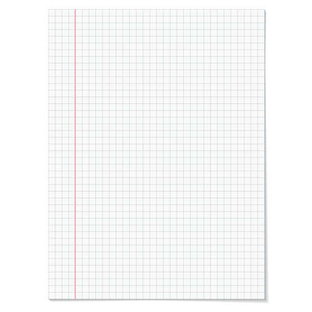 ruled: Sells notebook paper on white background.   Vector illustration.
