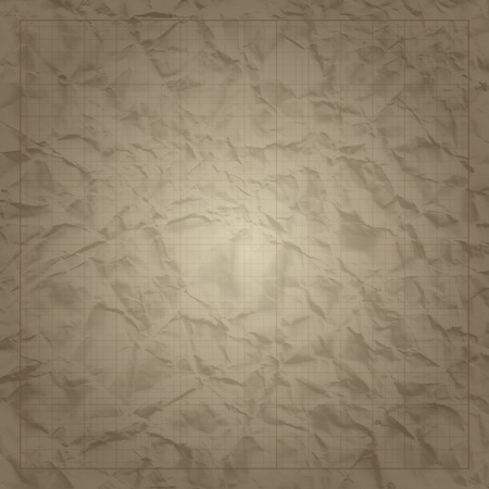grid paper: Square millimeter engineering grid paper on old paper background.    Vector illustration.