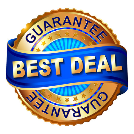 Best deal golden label with ribbon. 