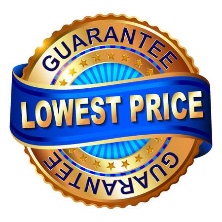 Lowest Price anniversary golden label with ribbon