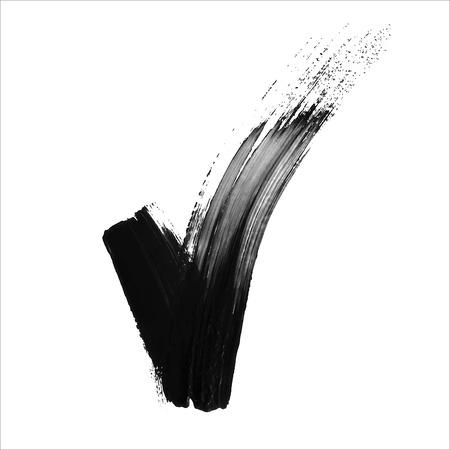 validation: Hand made black acrylic validation V icon