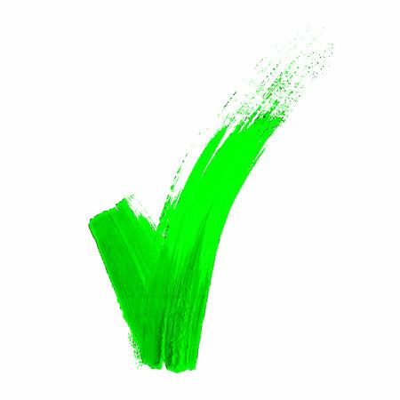 validation: Hand made green acrylic validation V icons set Illustration