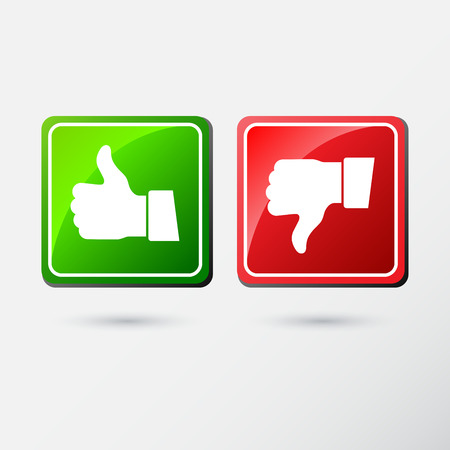 applique: Thumb down and Thumb down applique Icons. Flat style