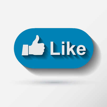 applique: Thumb up applique Icon. Flat style