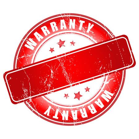 1 year warranty: Empty warranty stamp. Vector illustration.