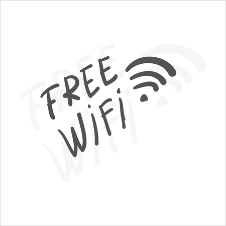 Hand drawn wifi symbol for design.Vector Illustration. Vector