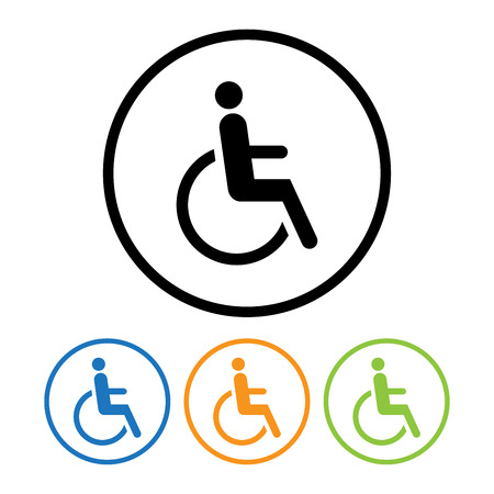 Disabled icon sign. Vector Illustration.