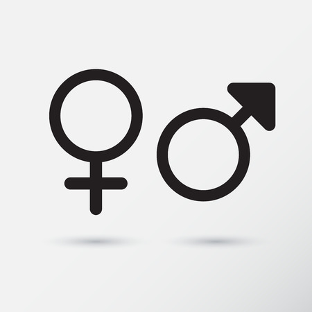 man and woman sex: Gender symbol icons.  Vector Illustration.