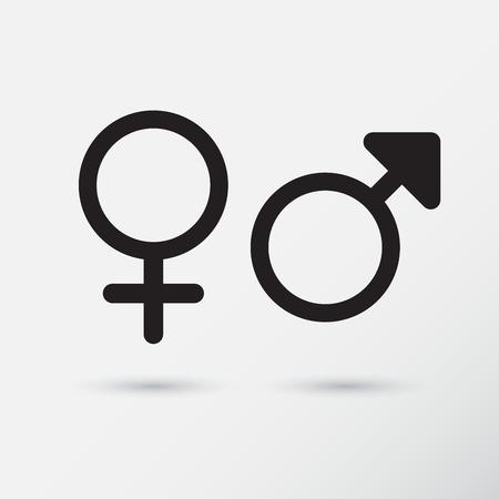 schwarze frau nackt: Gender Symbol-Icons. Vektor-Illustration.