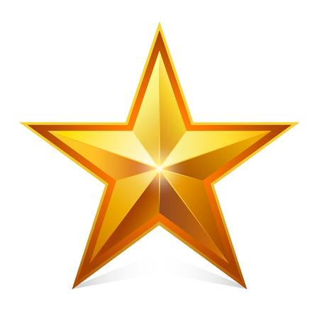 gold star: Gold star.     Vector Illustration.