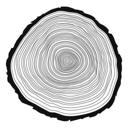 Tree rings background. Vector illustration.