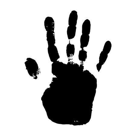 Hand print on white background.Vector illustration.