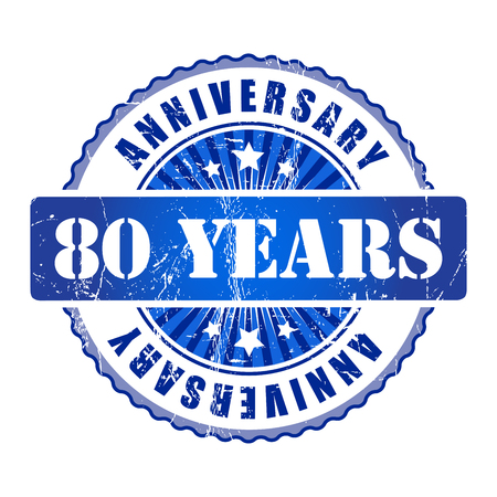 80 years: 80 Years anniversary stamp.