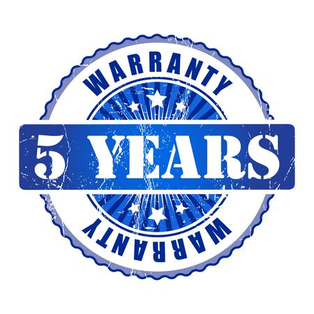 5 years: 5 Years warranty stamp.