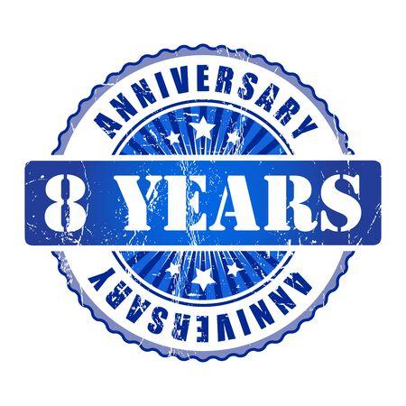 8 years: 8 Years anniversary stamp.