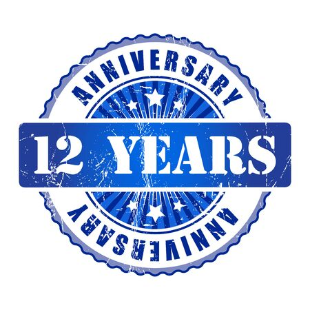 a 12: 12 Years anniversary stamp.