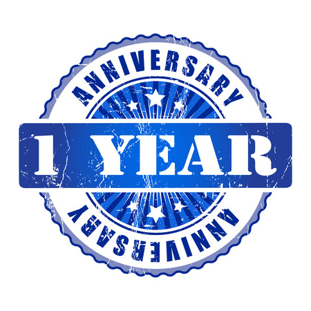 1 year: 1 Year anniversary stamp.