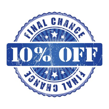 10: 10% Final Chance Stamp. Stock Photo