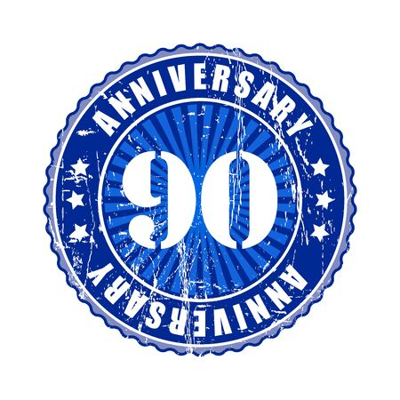 90 years: 90  Years anniversary stamp.