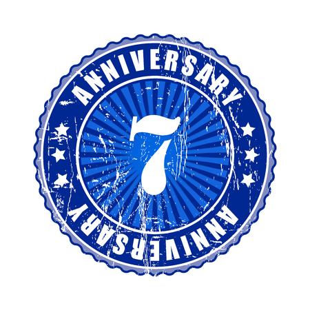 top seven: 7  Years anniversary stamp.