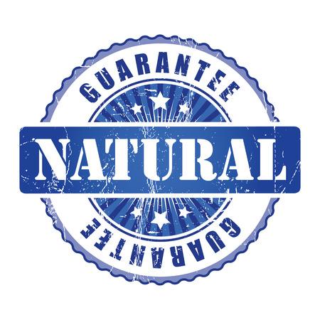 guarantee stamp: Natural  Guarantee Stamp. Stock Photo