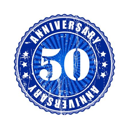 50 Years anniversary stamp. Stock Photo