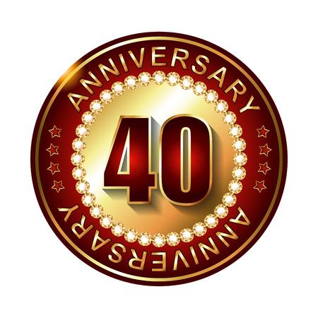 40 years: 40 Years anniversary golden label.