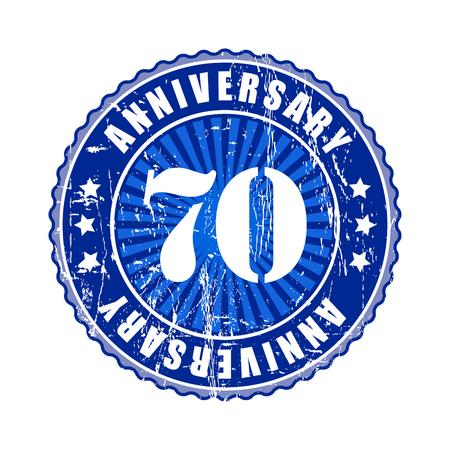 70 years: 70   Years anniversary stamp. Stock Photo