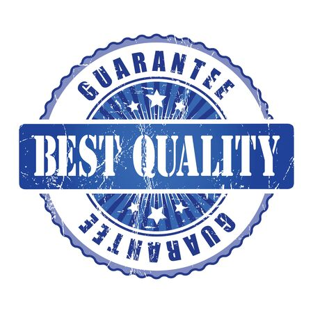 best quality: Best Quality   Guarantee Stamp. Stock Photo