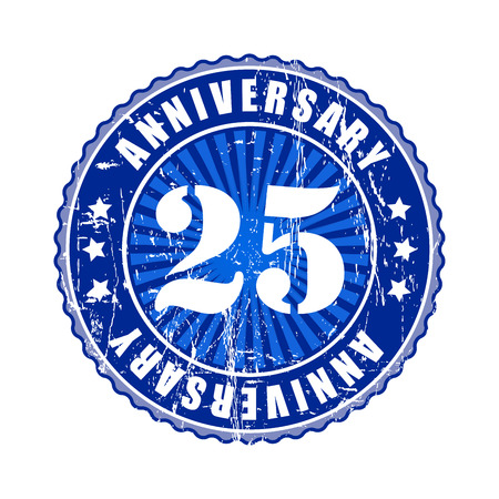 25: 25 Years anniversary stamp. Stock Photo