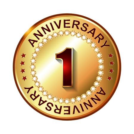 1 year warranty: 1 Year  anniversary golden label.