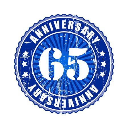 65: 65   Years anniversary stamp.