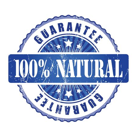 natura: 100%  Natura Guarantee Stamp.