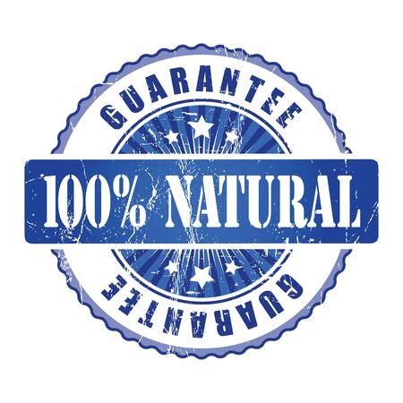 guarantee stamp: 100%  Natura Guarantee Stamp.