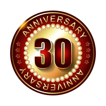 30: 30 Years anniversary golden label.