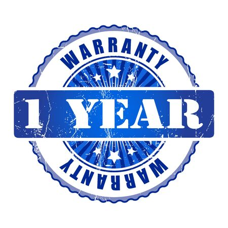 1 year: 1 Year warranty stamp.