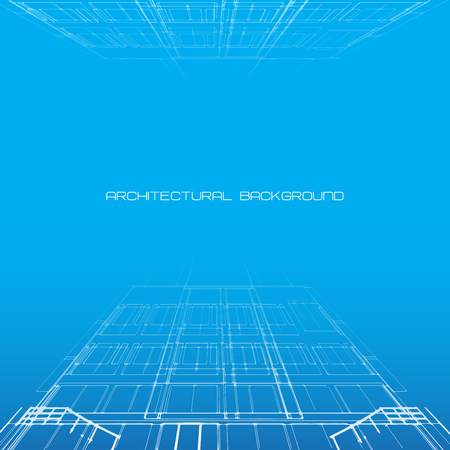 architecture: Architectural background for architectural project,  architectural brochure, technical project, architectural drawing. Stock Photo