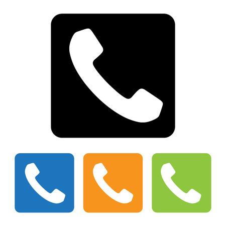 Telefon-Icons in Tasten eingestellt