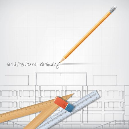 architecture: Architectural background for architectural project, architectural brochure, technical project, architectural drawing.