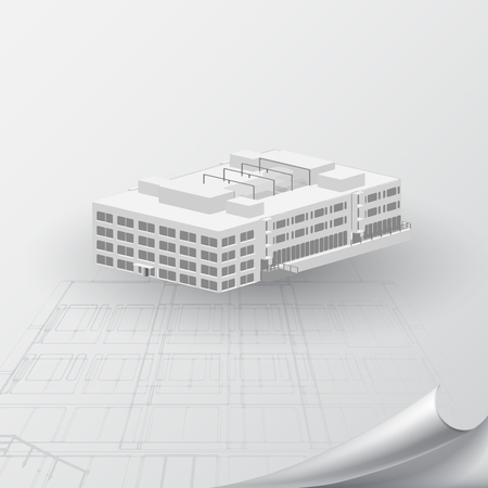architecture model: Architectural background for architectural project, architectural brochure, technical project, architectural drawing.